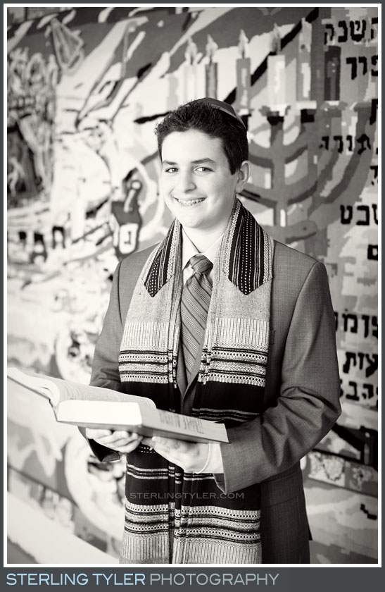Temple Aliyah Bar Mitzvah Portrait Photoy