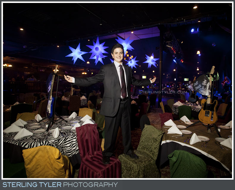 Rock and Roll Theme Bar Mitzvah Photography