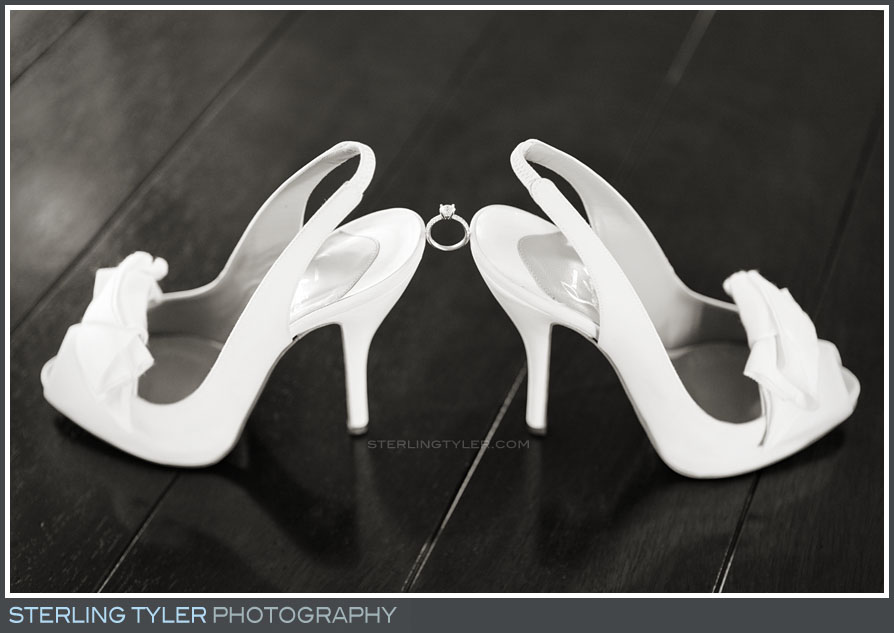 wedding shoes ring portrait black swan lake estate
