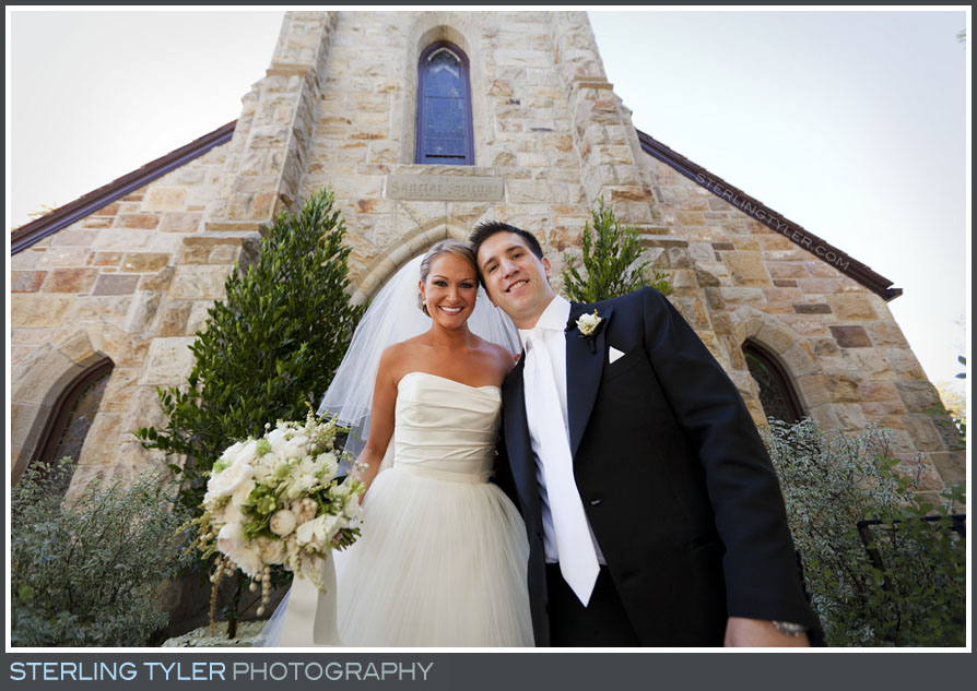 bride groom wedding portrait st helena catholic church
