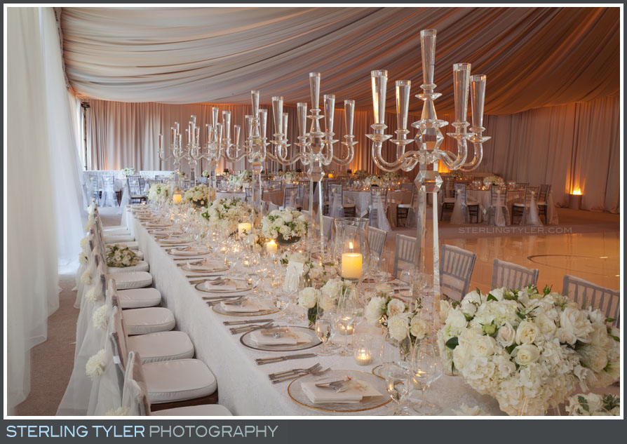 Black Swan Lake Estate Wedding Reception decor details