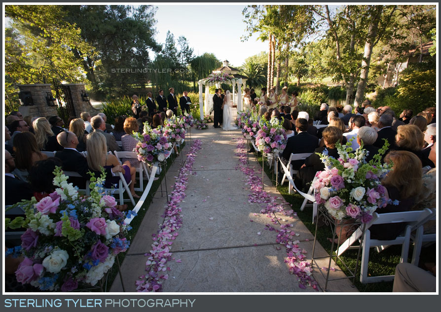 Westlake Village Inn Wedding Ceremony Photography