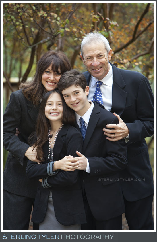 Temple Leo Leo Baeck Bar Mitzvah Family Portrait Photos