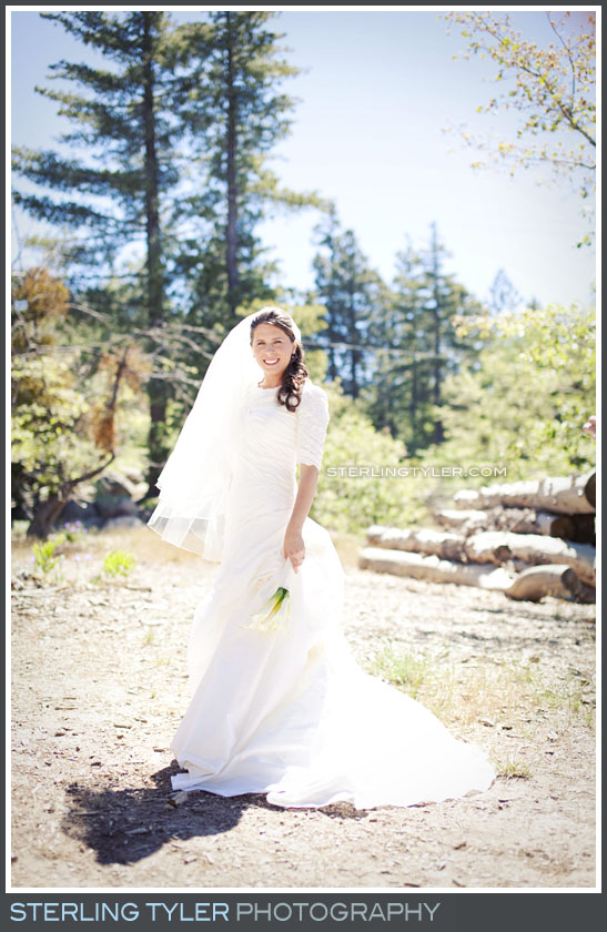 Camp Running Spring Wedding Bride Portrait Photos