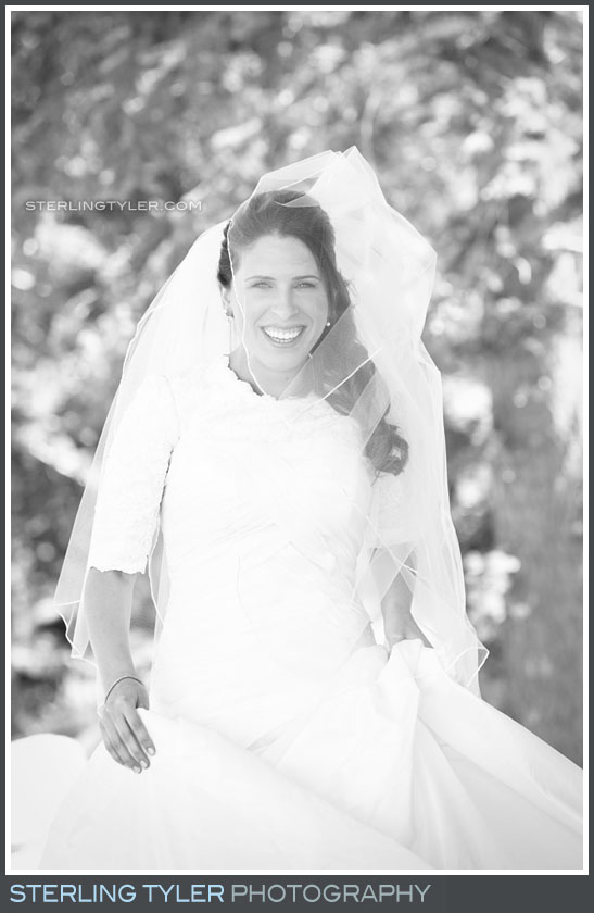 Camp Running Spring Wedding Bride Portrait Photo
