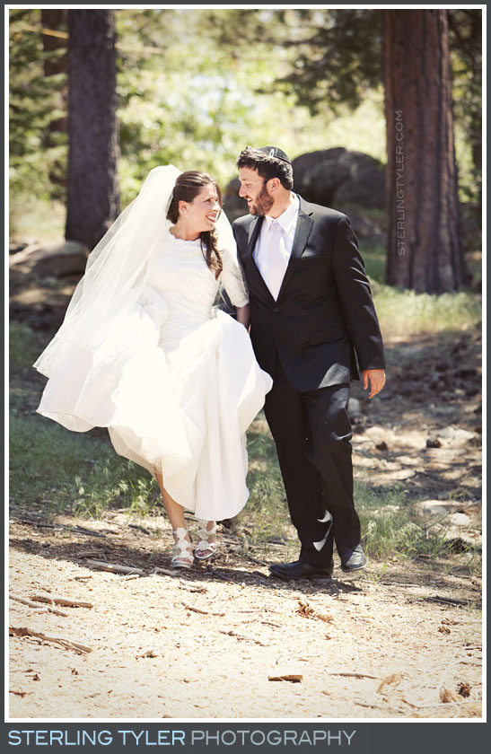 Camp Running Spring Wedding Couple Portrait Photos