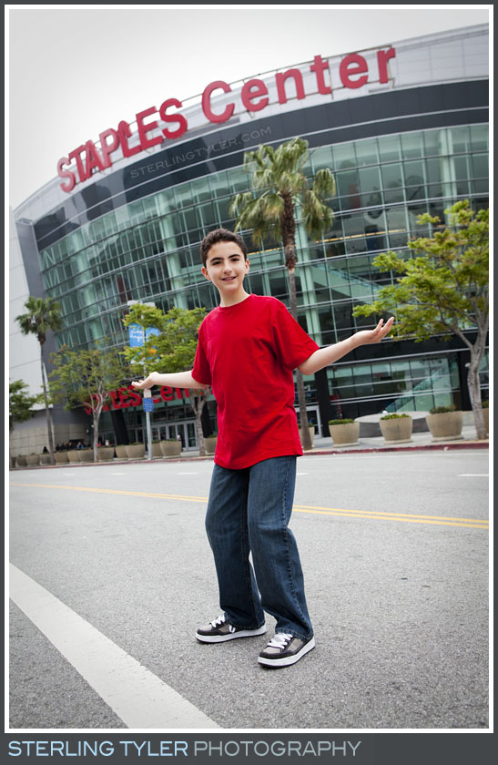 The Staples Center Bar Mitzvah Portrait Photography