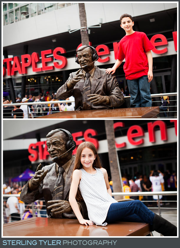 The Staples Center Bar Mitzvah Portrait Photography