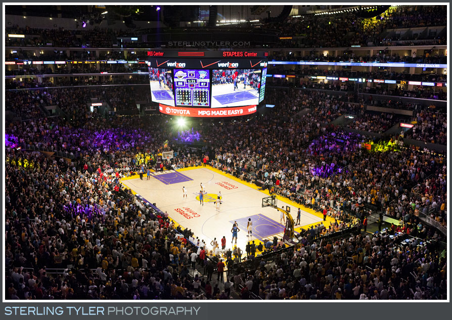 The Lakers Game Bar Mitzvah Photo