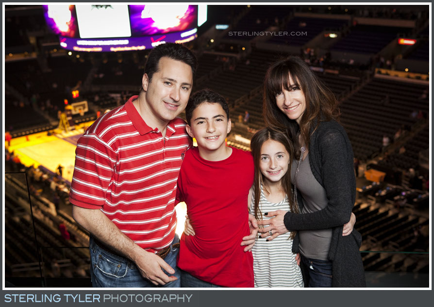 The Lakers Game Bar Mitzvah Portrait Photos