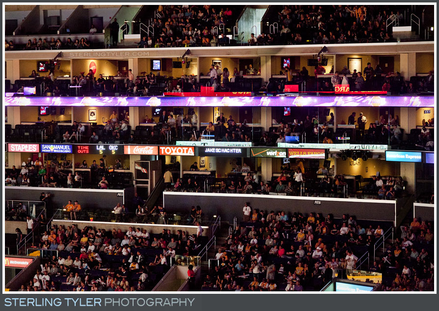 The Lakers Game Bar Mitzvah Photography
