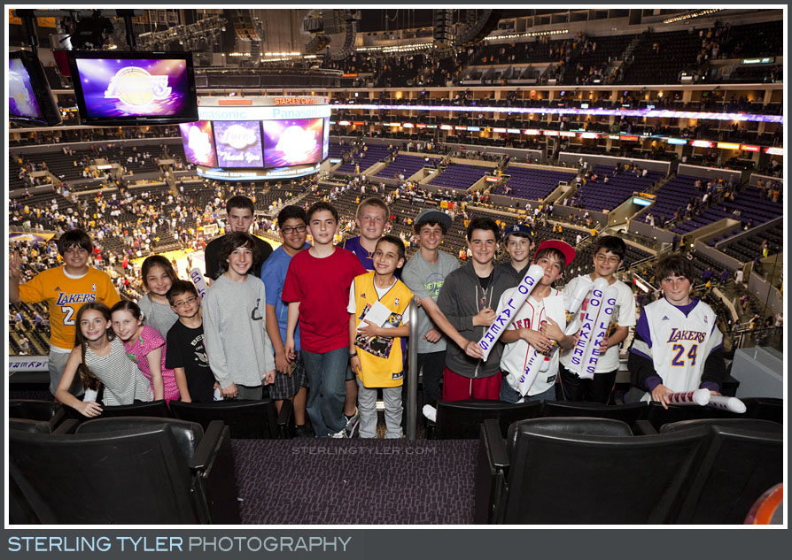The Lakers Game Bar Mitzvah Portrait Photography
