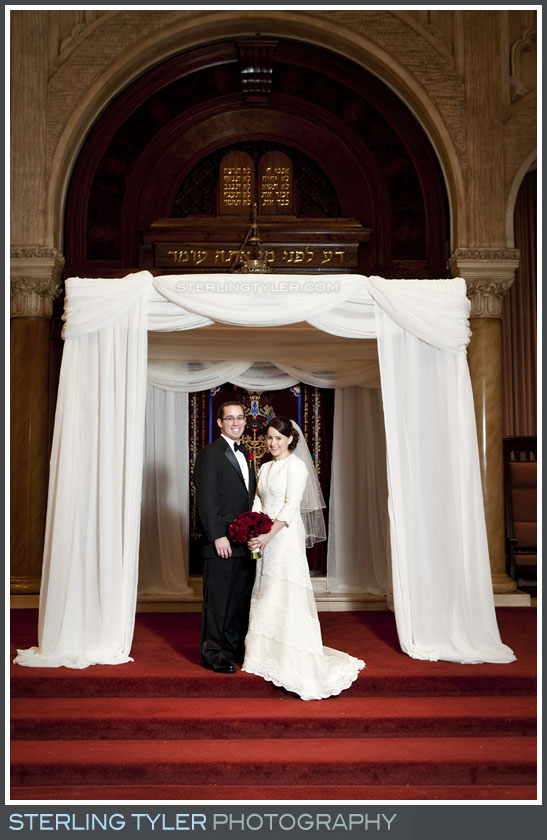 The Sephardic Temple Tiferet Wedding Portrait Photography