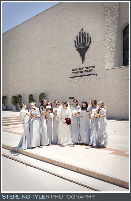 The Sephardic Temple Tiferet Wedding Portrait Photos