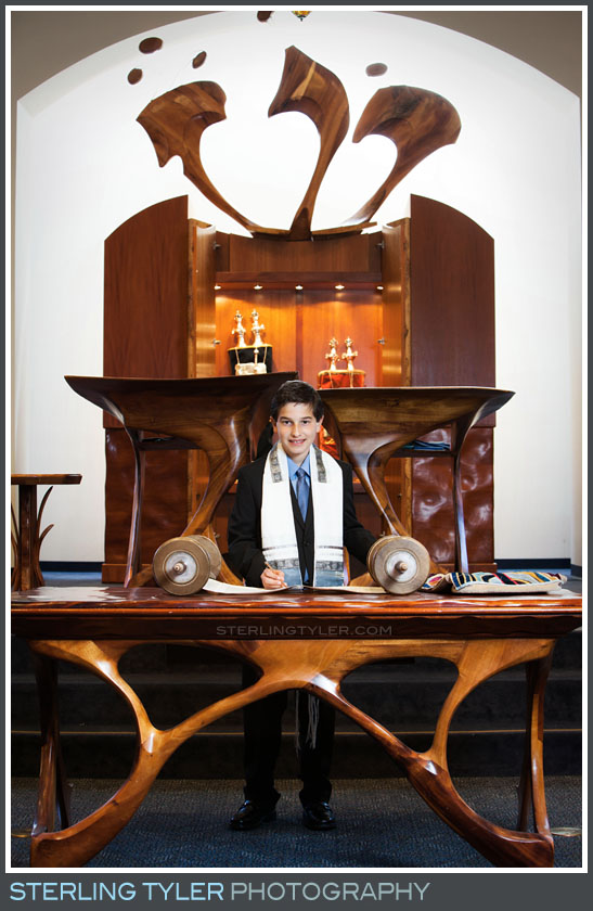 The Temple Adat Elohim Bar Mitzvah Portrait Photography