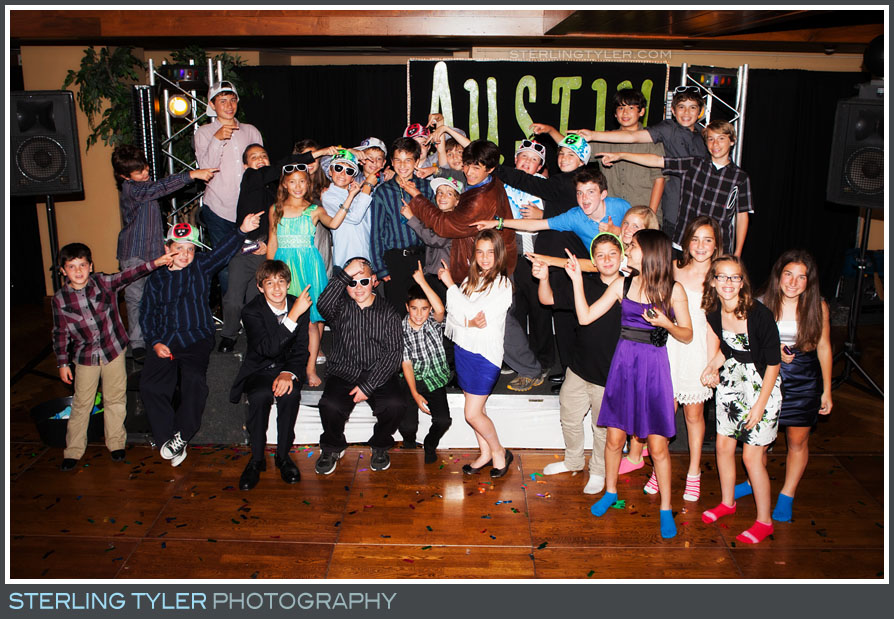 The North Ranch Country Club Bar Mitzvah Portrait Reception Photo