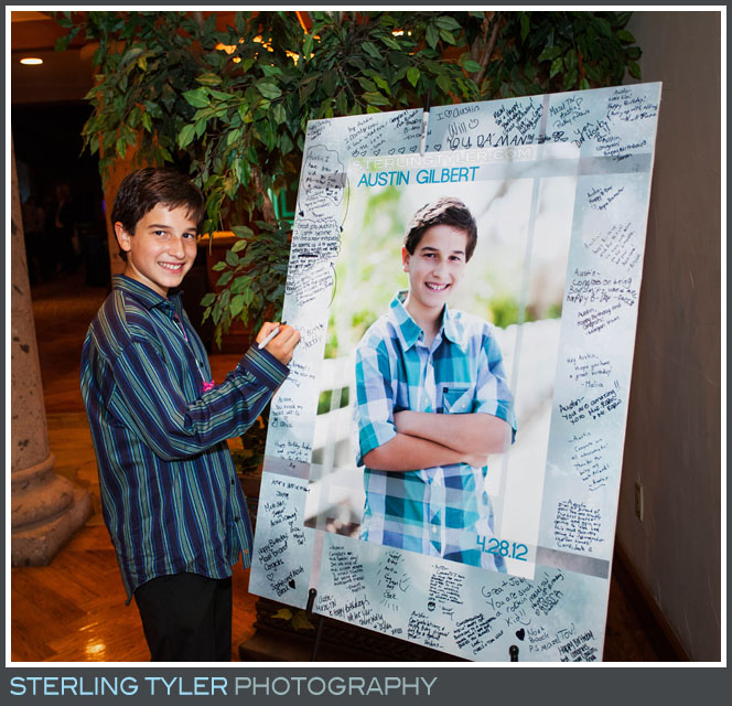The North Ranch Country Club Bar Mitzvah Portrait Reception Photography