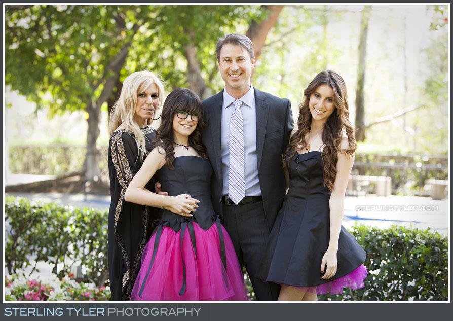 The Universal Sheraton Bat Mitzvah Family Portrait Photos