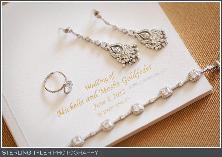 wedding invite bride jewelry montage beverly hills