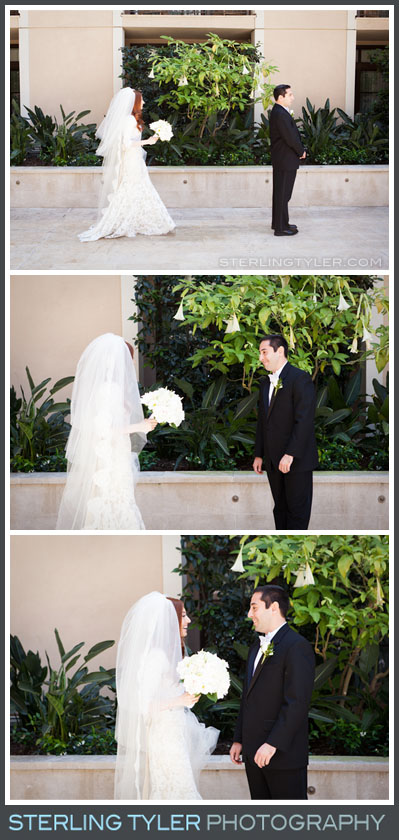 bride groom first look portrait montage beverly hills