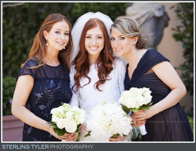 bride family portrait montage beverly hills