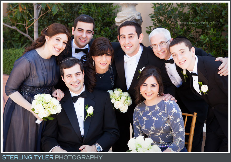 grooms family portrait montage beverly hills