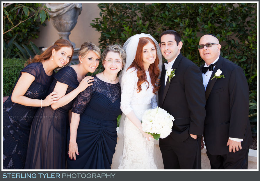 montage beverly hills bride family portrait