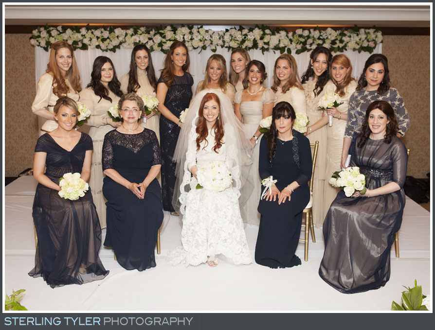 bridesmaid group portrait montage beverly hills