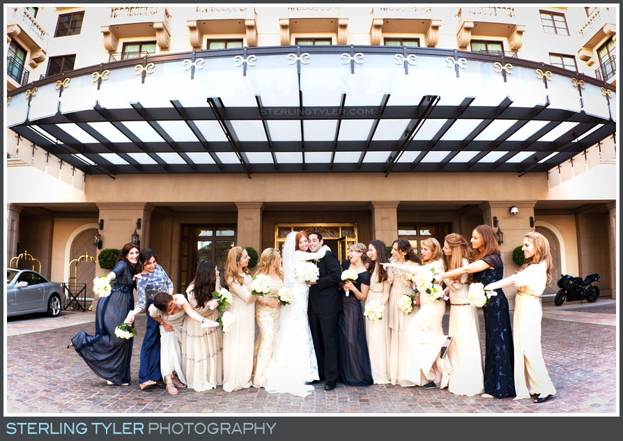 wedding party portrait montage beverly hills