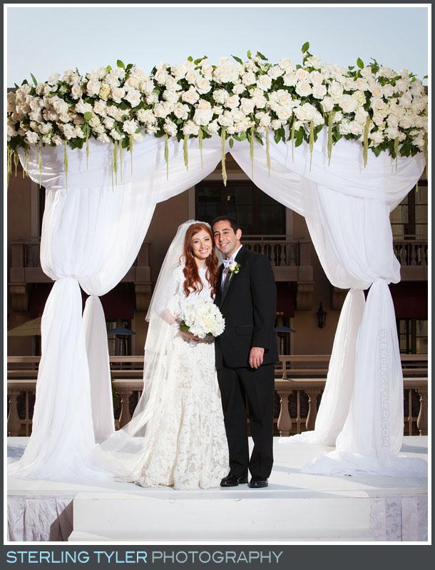 bride groom portrait montage beverly hills wedding
