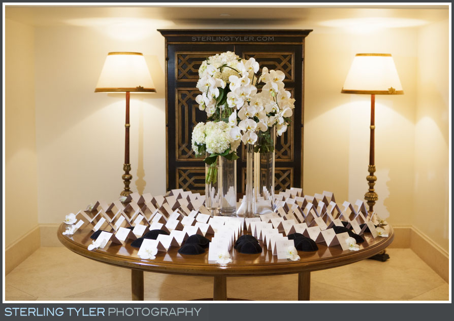 wedding reception detail seating cards place montage beverly hills
