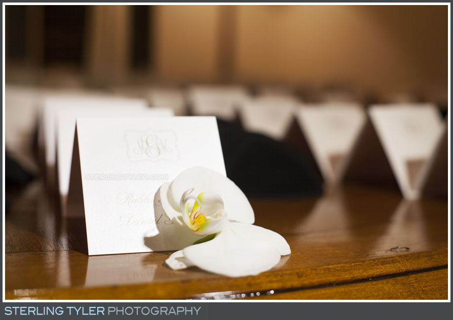 place cards seating wedding reception montage beverly hills detail