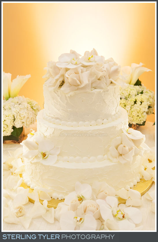 wedding cake reception beverly hills montage decor