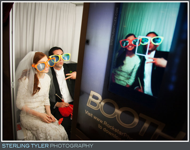 bride groom photo booth portrait wedding reception montage beverly hills