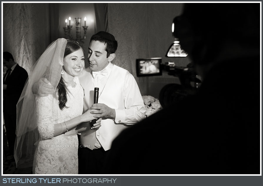 bride groom portrait video interview wedding reception montage beverly hills