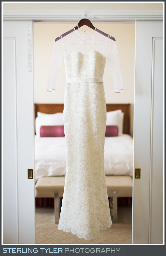 wedding gown portrait sephardic temple