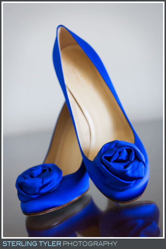 bride blue wedding shoes portrait sephardic temple