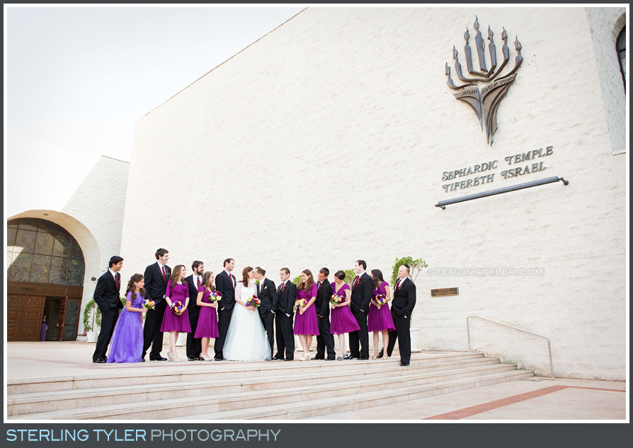 wedding party group portrait sephardic temple