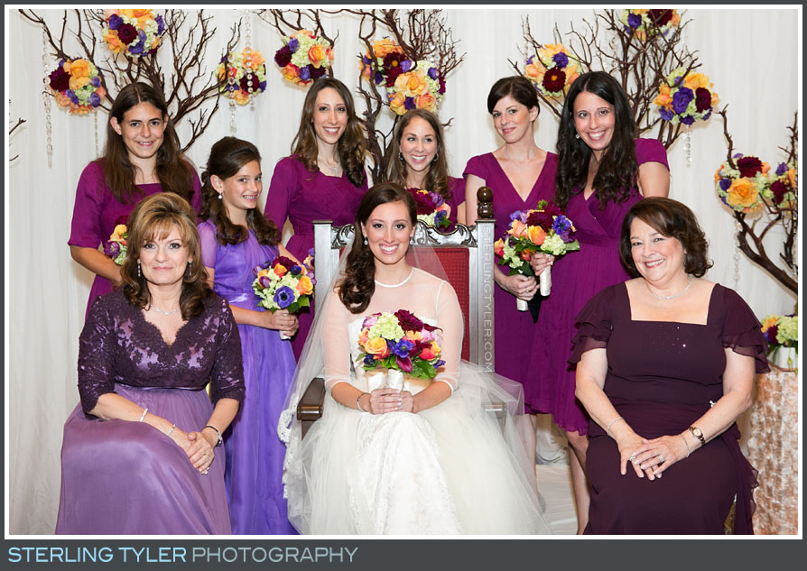bridesmaid group portrait sephardic temple
