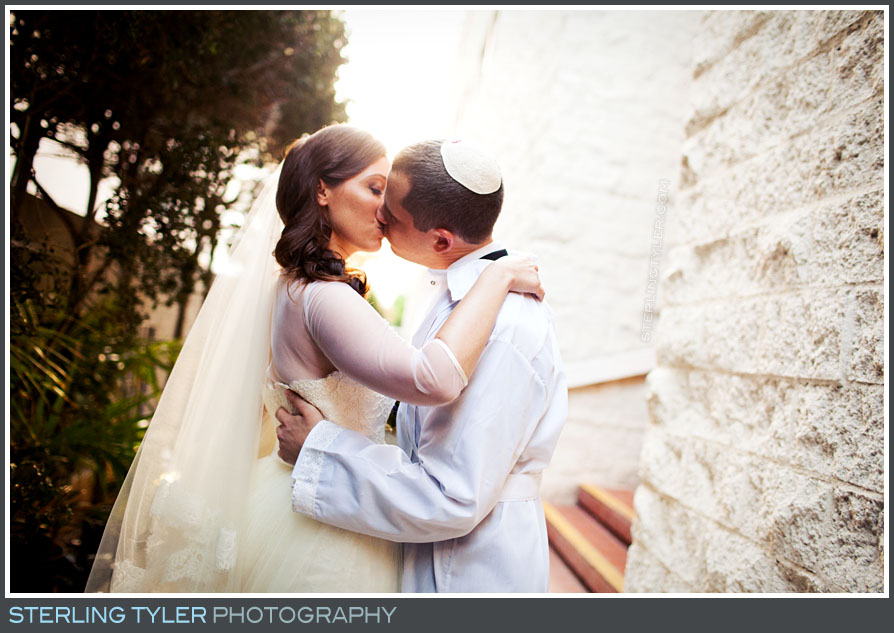 bride groom wedding portrait sephardic temple