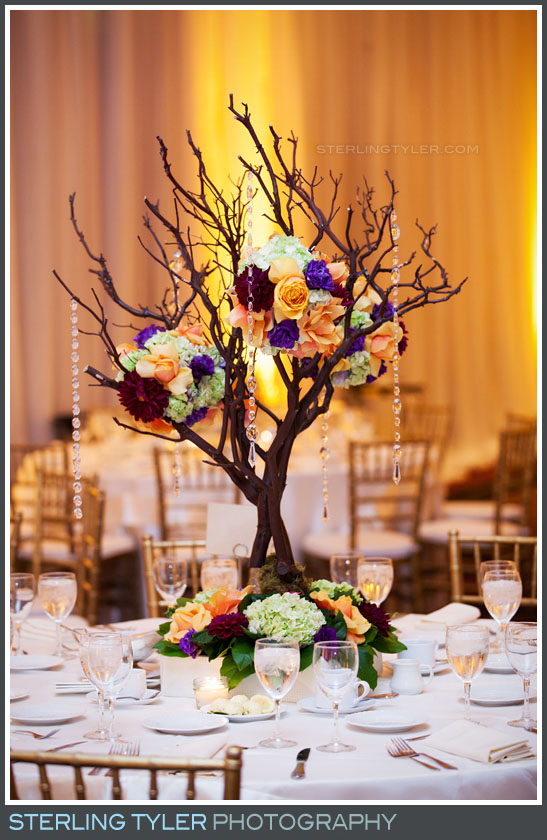 wedding reception decor detail sephardic temple