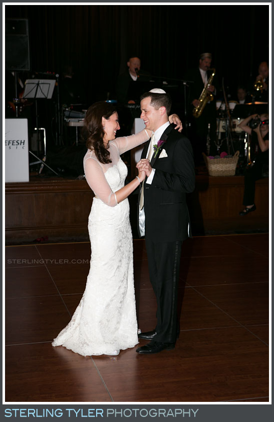 bride groom portrait first dance wedding reception sephardic temple