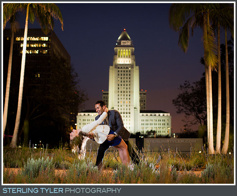 Downtown Los Angeles Court House Engagement Portrait Photography