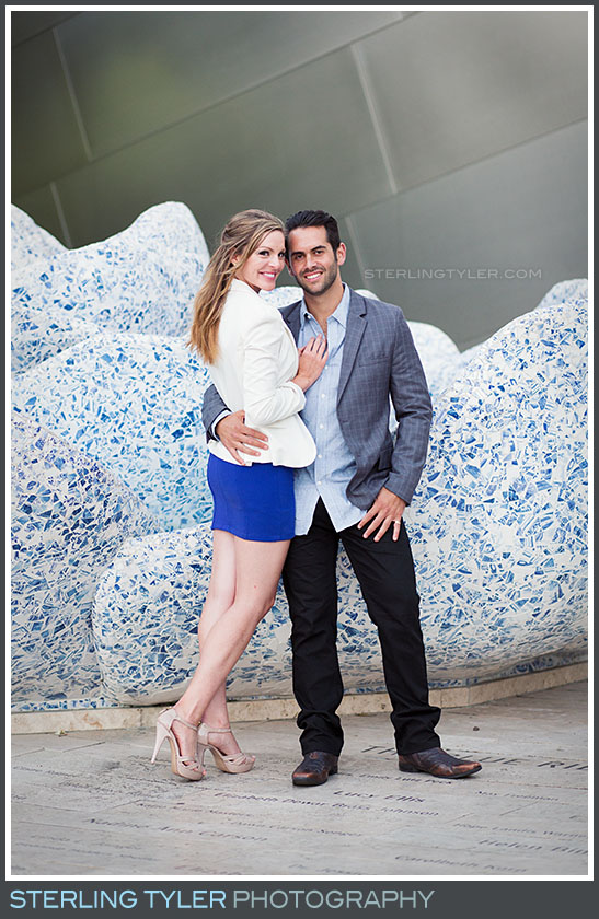 Downtown Los Angeles Walt Disney Music Hall Engagement Portrait Photography