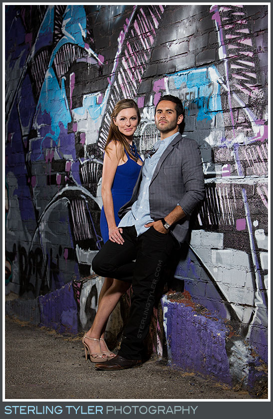 Downtown Los Angeles Graffiti Engagement Portrait Photography