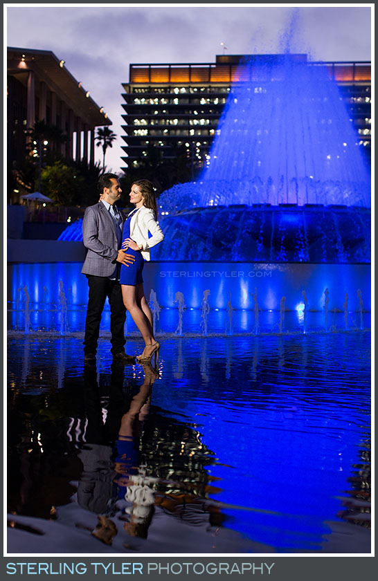 Downtown Los Angeles Engagement Portrait Photo