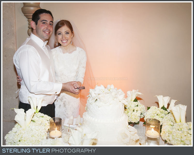 bride groom cake cutting portrait wedding reception montage beverly hills